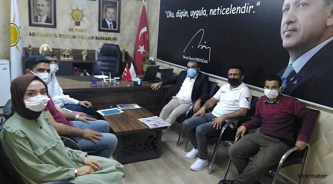 AGC'den AK Parti Adıyaman Gençlik Kolları Başkanı Mevlüt Kuştepe'ye Hayırlı Olsun Ziyareti