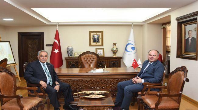 Adalet Komisyonu Başkanı Deniz'den Rektör Turgut'a Ziyaret