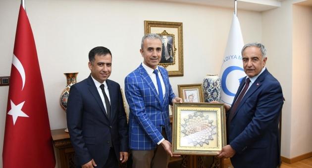 Adıyaman Aile, Çalışma ve Sosyal Hizmetler İl Müdürü Çelikten Rektör Turgut'a Ziyaret