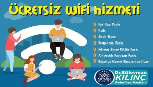 Adıyaman Belediyesi 7 noktada ücretsiz Wi-Fi hizmeti başlattı