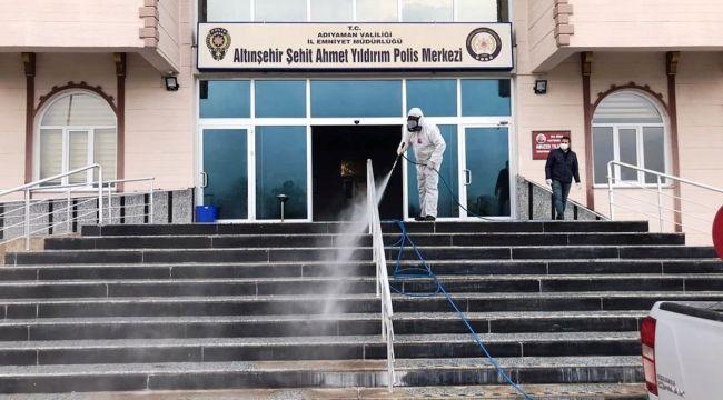 Adıyaman Belediyesi, Kamu Kurumlarını Dezenfekte Ediyor