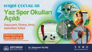 Adıyaman Belediyesinden yaz spor okullarına davet