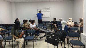 Adıyaman'da belediye konservatuarında eğitimler sürüyor