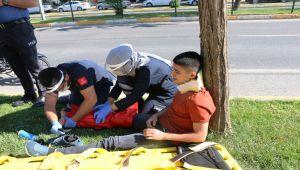 Adıyaman'da elektrikli bisiklet devrildi: 1 yaralı