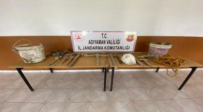 Adıyaman'da kaçak kazı operasyonu: 2 gözaltı