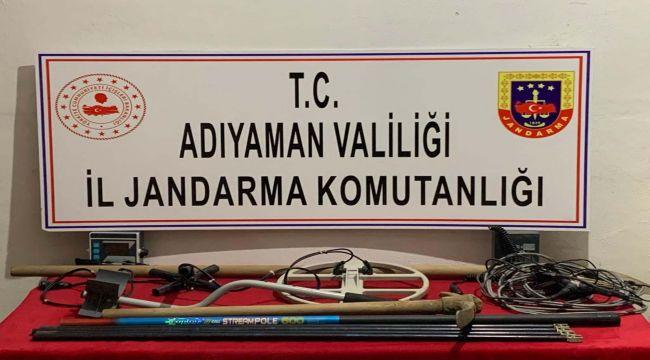 Adıyaman'da kaçak kazı operasyonu: 4 gözaltı