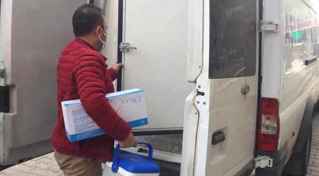 Adıyaman'da koronavirüs aşısı sağlık kuruluşlarına dağıtımı başladı