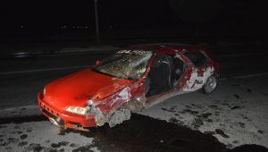 Adıyaman'da otomobil devrildi: 2 yaralı - Videolu Haber