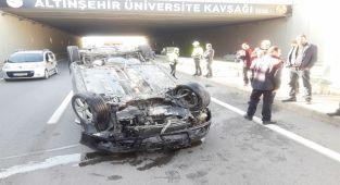 Adıyaman'da otomobil takla attı: 1 yaralı - Videolu Haber