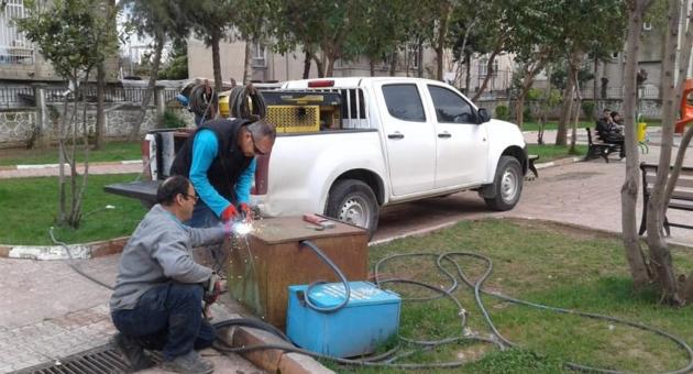 Adıyaman'da Parklarda Bakım ve Onarım Çalışması Sürüyor