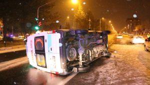 Adıyaman'da Takla Atan Ambulans 2 Otomobile Çarptı - Videolu Haber