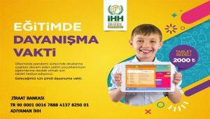 Adıyaman İHH'dan yetim çocuklar için tablet kampanyası