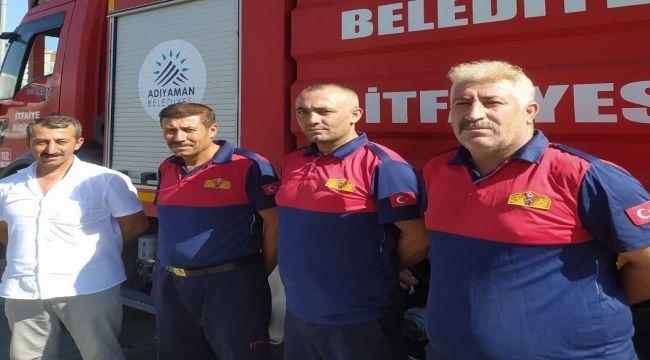 Adıyaman itfaiyesinden Manavgat ve Osmaniye yangınlarına destek