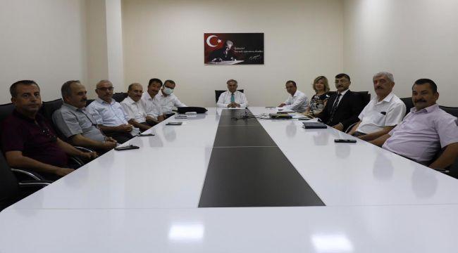 Adıyaman Milli Eğitim Müdürü Gönen müfettişlerle toplandı