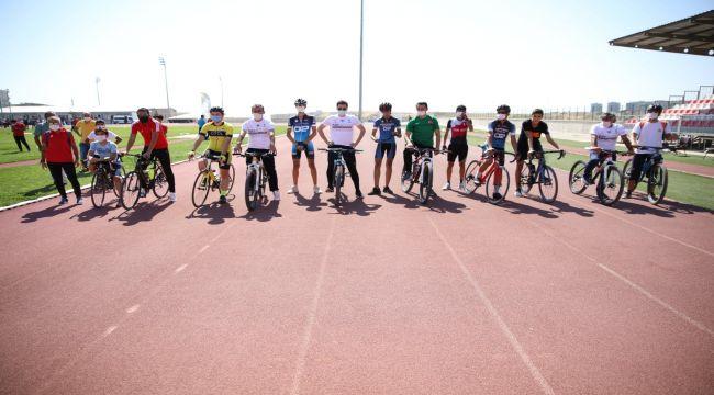 Adıyamanlı bisiklet sporcuları Malatya'da