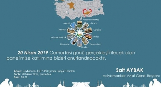 """Adıyamanlılar Vakfı'ndan """"Gönül Şehri Adıyaman"""" Paneli"""