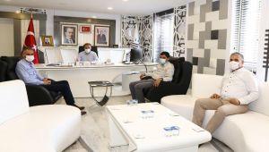 AGAD Başkanı Aslan ve medya mensuplarından Başkan Kılınç'a ziyaret