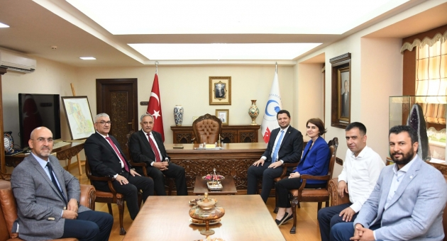 AK Parti Adıyaman Milletvekili Toprak'tan Rektör Turgut'a Ziyaret