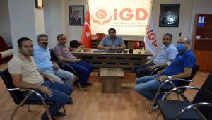 AK Parti İl Başkanı Dağtekin'den İGC ziyaret