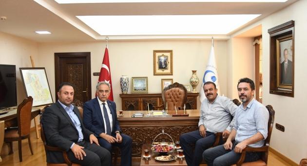Ak Parti Kâhta İlçe Başkanı Yeni'den Rektör Turgut'a Ziyaret