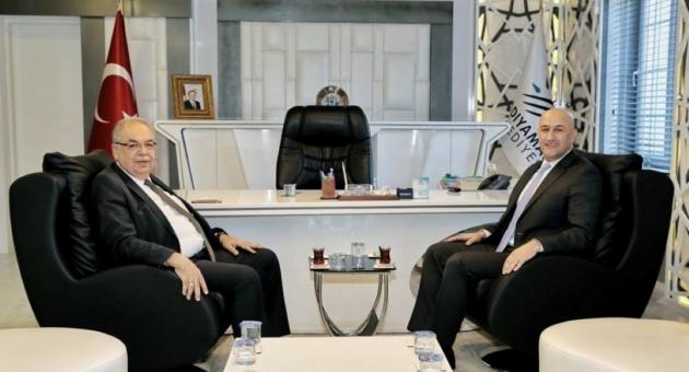 Akmercan Doğalgaz Bölge Müdürü Er'den, Başkan Kutlu'ya Ziyaret