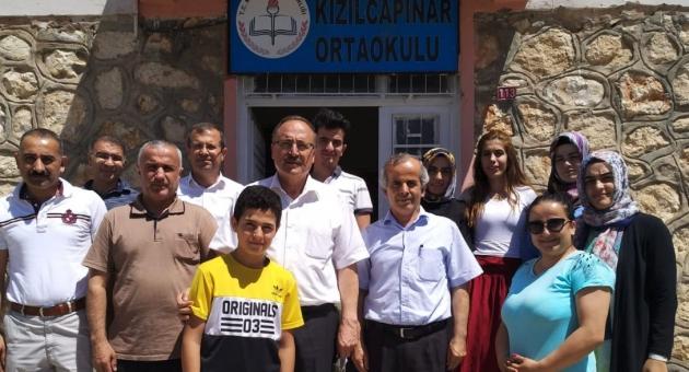 Alagöz, Kızılcapınar'da Okulları İnceledi