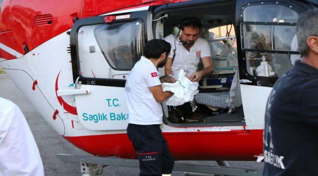 Ambulans Helikopter, Kronik Hasta Bebek İçin Havalandı - Videolu Haber