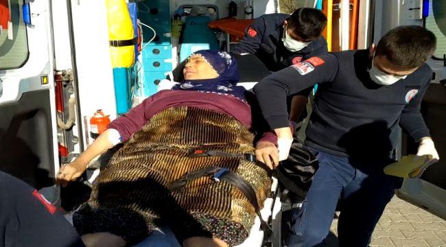 Ayran diye kimyasal madde içen yaşlı kadın hastaneye kaldırıldı
