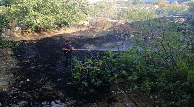 Bahçede Çıkan Yangın Söndürüldü