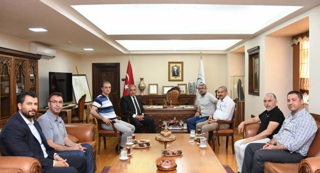 Basın ve Spor Camiasından Rektör Turgut'a Destek Ziyareti