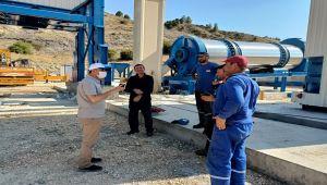 Başkan Kılınç, Asfalt Plenti inşaatında incelemelerde bulundu