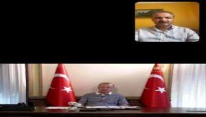 Başkan Kılınç, Cumhurbaşkanı Erdoğan ile video konferans aracılığıyla bayramlaştı