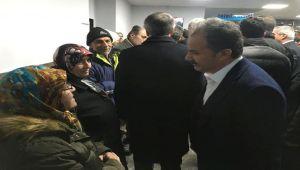 Başkan Kılınç, Milletvekili Aydın ve İl Başkanı Dağtekin'le Deprem Bölgesinde