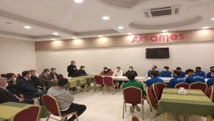 Başkan Kılınç'tan, Kahta 02 Spor'a moral ziyareti