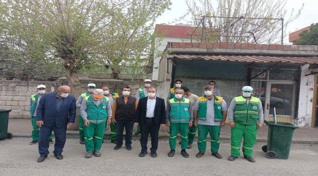 Başkan Kılınç'tan temizlik personeline teşekkür ziyareti