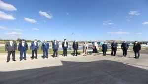 Başkan Şahin ve milletvekilleri ileri biyolojik atıksu arıtma tesisini ziyaret etti