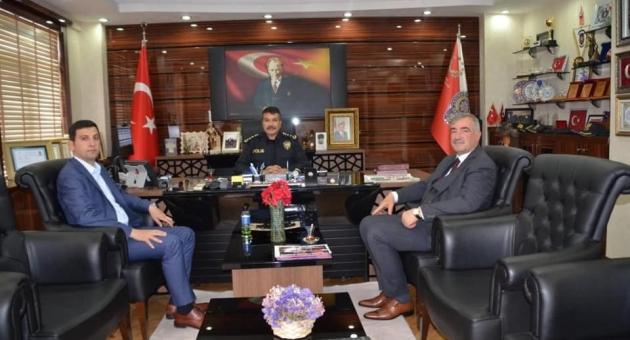 Başkan Turanlı'dan, İl Emniyet Müdürü Alper'e Ziyaret