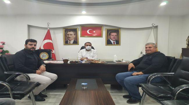 Başkan Turanlı'dan İlçe Başkanı Yeni'ye ziyaret