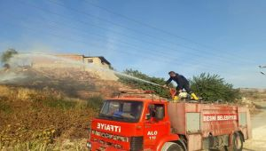 Besni'de Bahçe Yangını Korkuttu