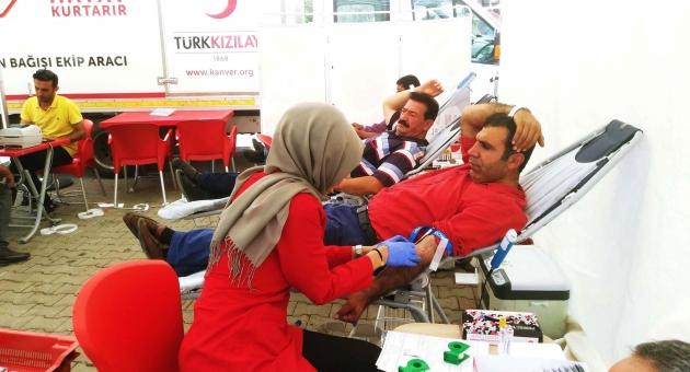 Çelikhan'da, Kan Bağışına Yoğun İlgi