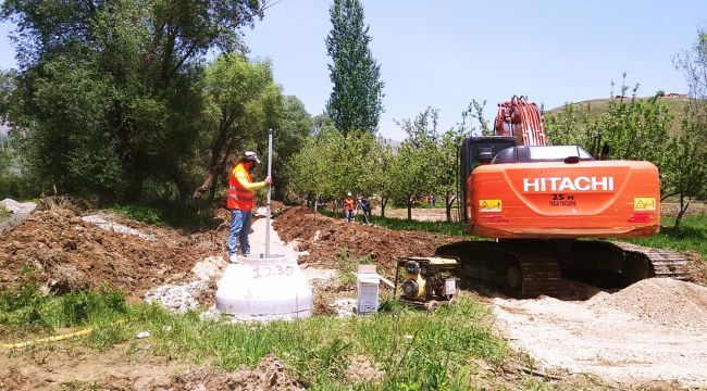 Çelikhan'da Kanalizasyon Çalışmasına Başlandı