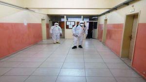 Çelikhan'da Tüm Okullar Dezenfekte Edildi