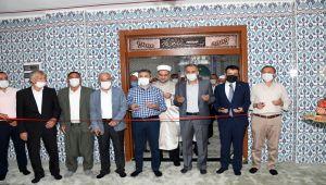 Çelikhan Yeşilova Köyü Camii dualarla ibadete açıldı