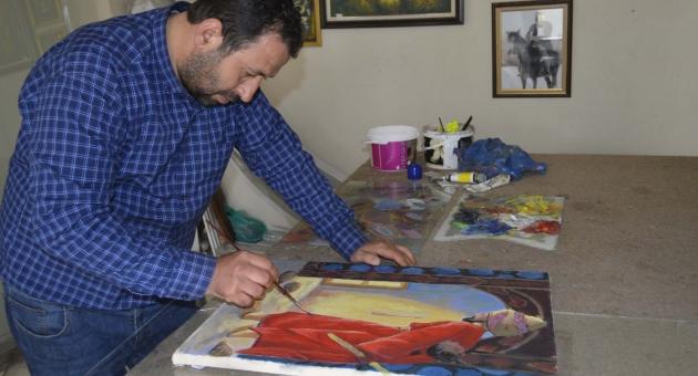 Çerçeve Yaptığı Resimlere Özenip Ressam Oldu - Videolu Haber