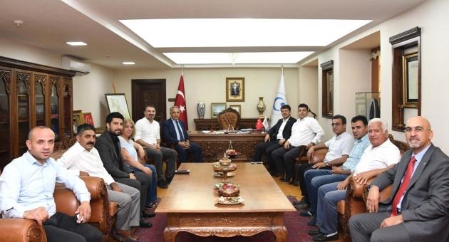 CHP Adıyaman Milletvekili Tutdere ve İl Heyetinden Rektör Turgut'a Ziyaret