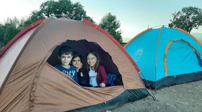 Doğaseverler çadır kampında buluştu