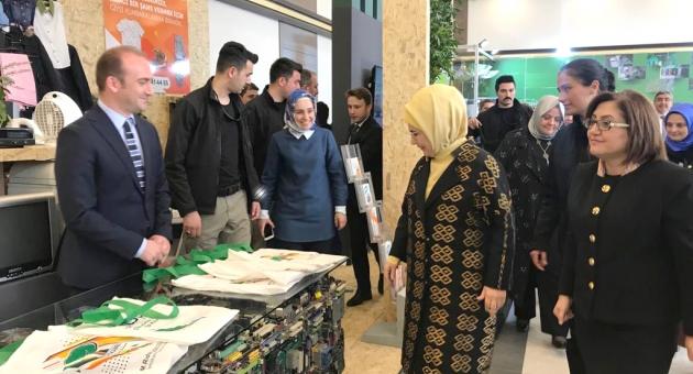 Emine Erdoğan, Şehitkamil'in Sıfır Atık Projelerini İnceledi