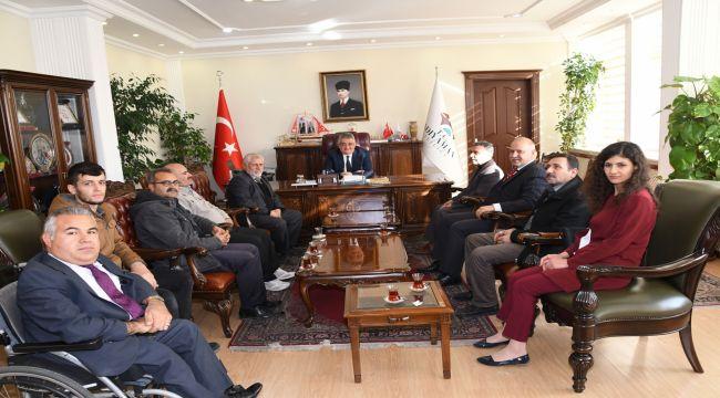 Engelli Dernekleri Yöneticileri'nden Vali Aykut Pekmez'e Ziyaret