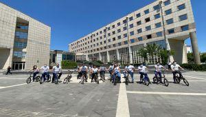 Gaziantep Büyükşehir Belediye personellerinden bisiklet etkinliği