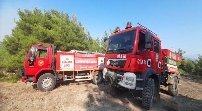 Gaziantep Büyükşehir Belediyesi orman yangınları için seferber oldu